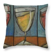 Wine Trio Option 2 Throw Pillow by Tim Nyberg