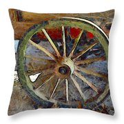 Wine Wagon Wheel Throw Pillow