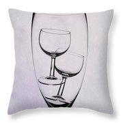 Wineglass Trio Throw Pillow