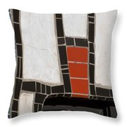 Winery Window Wall Detail Throw Pillow