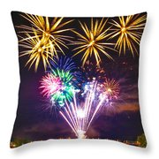 Wing Dam Fireworks  Throw Pillow