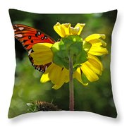 Wing Flower Throw Pillow