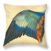 Wing Of A Blue Roller 1512 Throw Pillow