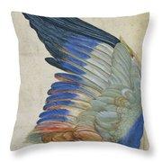 Wing Of A Blue Roller Throw Pillow