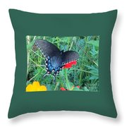 Wing Spread Butterfly Throw Pillow