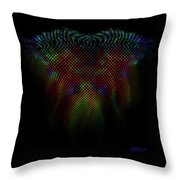 Wing Trails Neon Fade Throw Pillow
