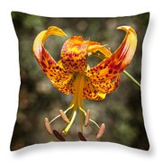 Winged Flower Throw Pillow