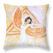 Winged Goddess Throw Pillow