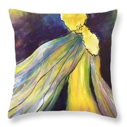Winged Goddess Update Throw Pillow