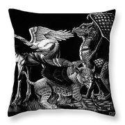 Winged Hatchlings Throw Pillow