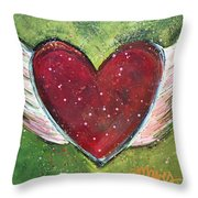 Winged Heart Number 1 Throw Pillow