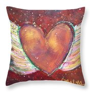 Winged Heart Number 2 Throw Pillow
