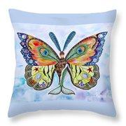 Winged Metamorphosis Throw Pillow
