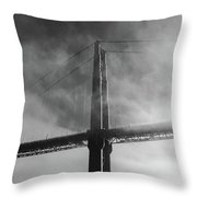 Winged Skyscraper Throw Pillow