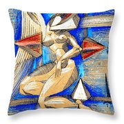 Winged Space Throw Pillow