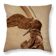 Winged Victory Throw Pillow by JAMART Photography