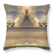 Winged Warrior Throw Pillow