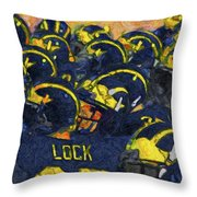 Winged Warriors Throw Pillow