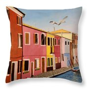 Wingin It In Venice Throw Pillow