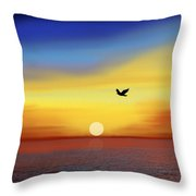 Winging Home Throw Pillow
