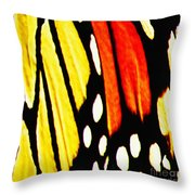 Wings Of A Monarch Butterfly Abstract Throw Pillow