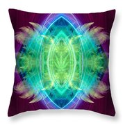 Wings Of Consciousness Throw Pillow