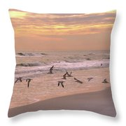 Wings Of Dawn Throw Pillow
