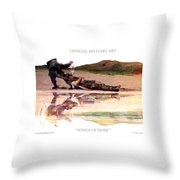 Wings Of Hope Design For T Shirts Throw Pillow