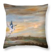 Wings Of The Morning  Throw Pillow
