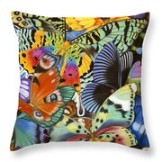 Wings Of The World Throw Pillow