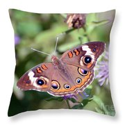 Wings Of Wonder - Common Buckeye Butterfly Throw Pillow