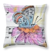 Wings V Throw Pillow