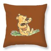 Winnie The Pooh T-shirt Throw Pillow