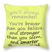 Winnie The Pooh - Promise Me Throw Pillow