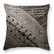 Winning Quote From Vince Lombardi Throw Pillow