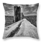 Winshelsea Beach Sussex Throw Pillow