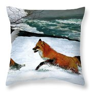 Winslow Homer's, 1893 ' The Fox Hunt ', Revisited 2016 Throw Pillow