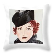 Winsome And Mischievous  Throw Pillow