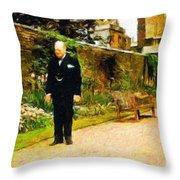 Winston Churchill, 1943 Throw Pillow
