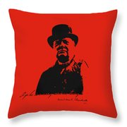 Winston Churchill - A Joke Is A Very Serious Thing Throw Pillow