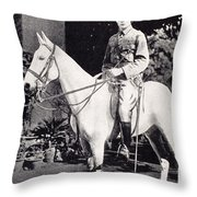 Winston Churchill On Horseback In Bangalore, India In 1897 Throw Pillow