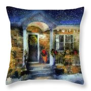 Winter - Christmas - Dressed Up For The Holidays  Throw Pillow