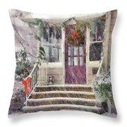Winter - Christmas - Silent Day  Throw Pillow