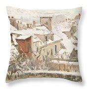 Winter, 1872  Throw Pillow