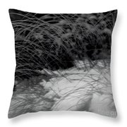 Winter Abstract Black And White Throw Pillow
