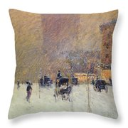 Winter Afternoon In New York Throw Pillow