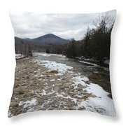 Winter Along The Pemi Throw Pillow