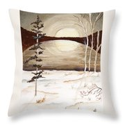 Winter Apex Throw Pillow