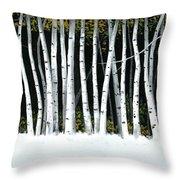 Winter Aspens II Throw Pillow