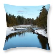 Winter At Hickey Creek Throw Pillow